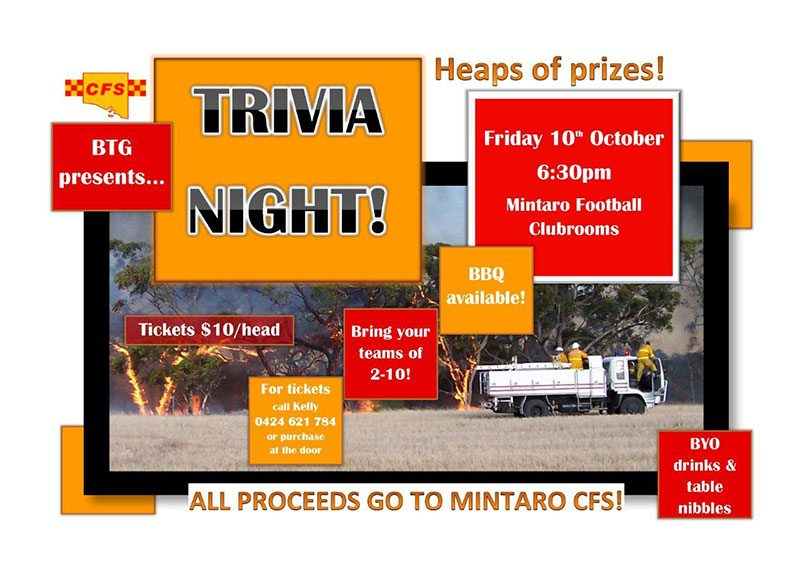CFS Quiz Night Mintaro